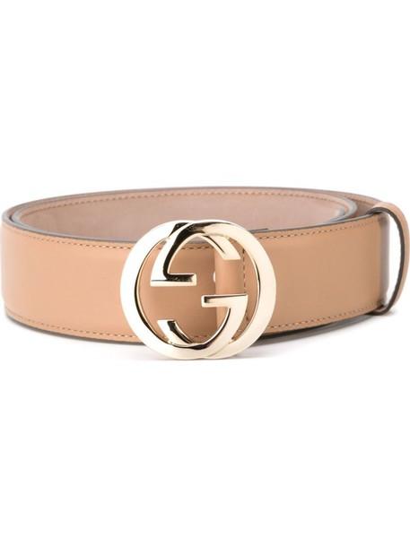 gucci women belt leather nude