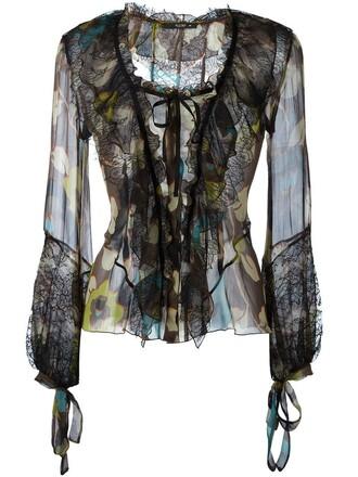 blouse print top