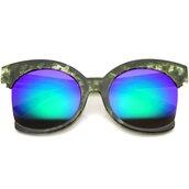sunglasses,oversized,cat eye,mirror,green,green sunglasses,oversized sunglasses,mirrored sunglasses