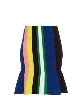 skirt knit stripes wool