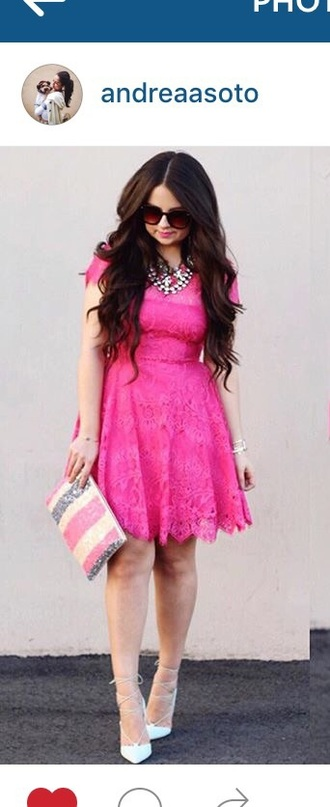 dress pink dress lace dress lace pink sunglasses