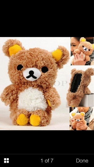 hat iphone phone cover teddy bear phone cover stuffed animal samsung s4 case 3d case wherecanibuythis like comment lovely must get