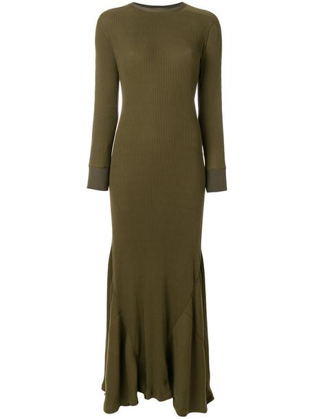 LOEWE dress maxi dress maxi women cotton green