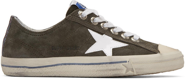 Golden goose sneakers white green shoes