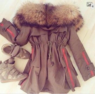 jacket fur parka