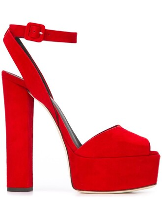 women sandals platform sandals leather suede red shoes