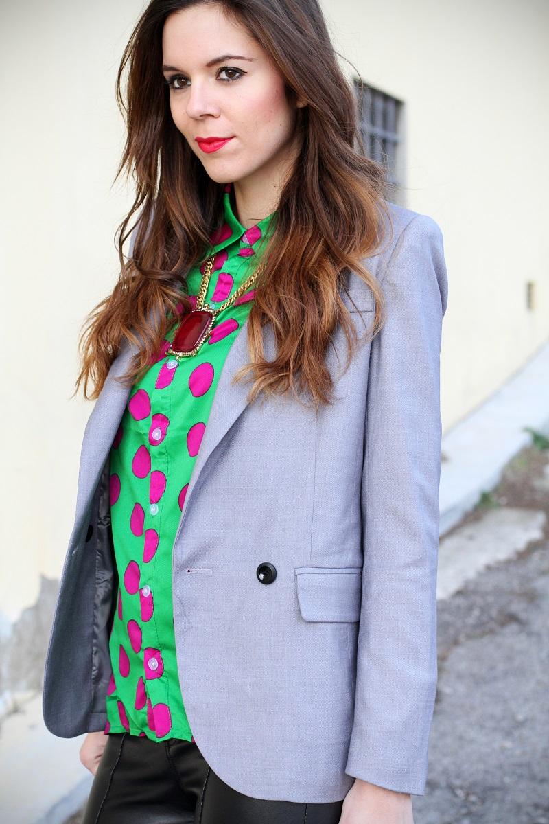 Una camicia a pois fucsia - Irene's Closet - Fashion blogger outfit e streetstyle