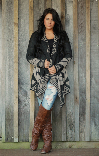 urban outfitters jeans free people soft boots cardigan gray anthropologie aztec tribal cardigan