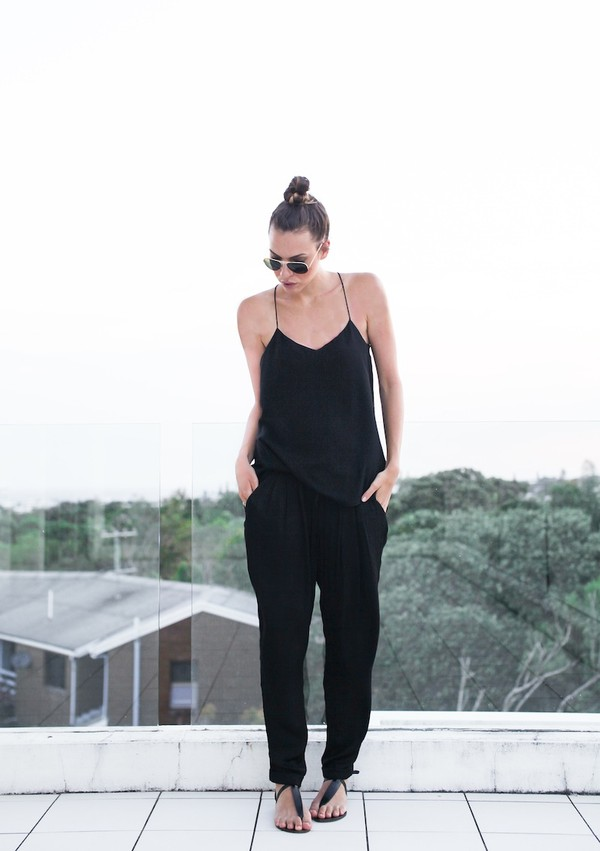 modern legacy tank top pants shoes sunglasses