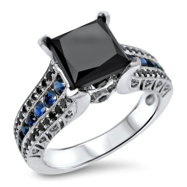Jewels evolees jewelry ring engagement ring black ring black engagement