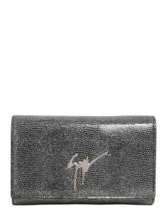 leather clutch clutch leather silver bag