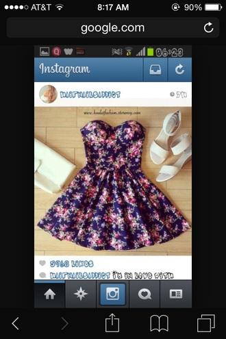 dress floral dress strapless dress graduation dress cute dress