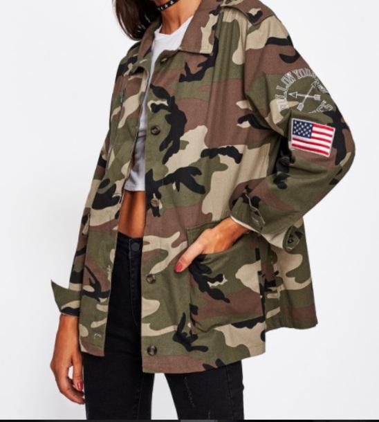jacket girly army green army green jacket camouflage camo jacket