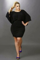 dress,black,big girls,large,short,butterfly sleeves,plain black,party,clubwear,club dress,curvy