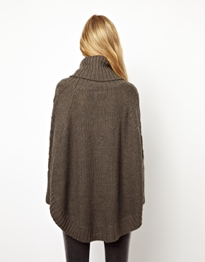 Pepe Jeans | Pepe Jeans London Roll Neck Cape Knitted Jumper at ASOS