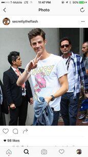 t-shirt,grant gustin,the flash,the cw,merchandise,superheroes,the Arrow series