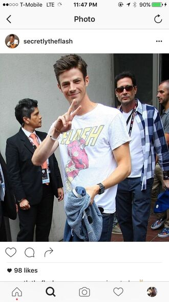 t-shirt grant gustin the flash the cw merchandise superheroes the arrow series