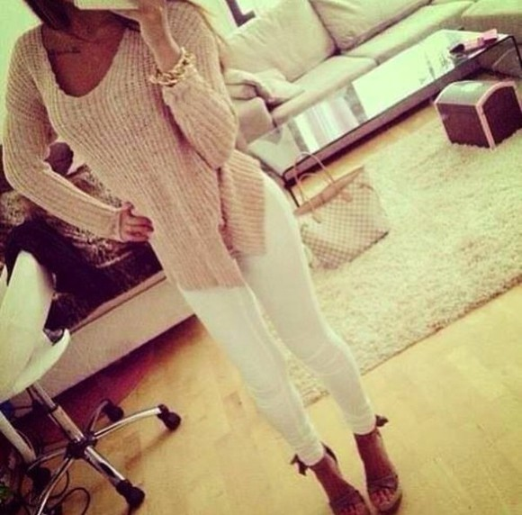 sweater knitted sweater beige beige sweater knitted cardigan crochet crochet top crochet tops helpmeplease helpmefindthisplease helpmefindit help women top please find his i want this lots pink laine shoes wedge shoes wedges nude shoes