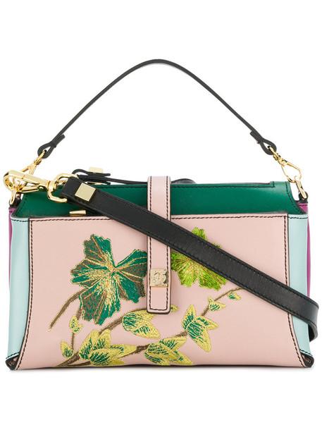 GIANCARLO PETRIGLIA women clutch floral leather print bag