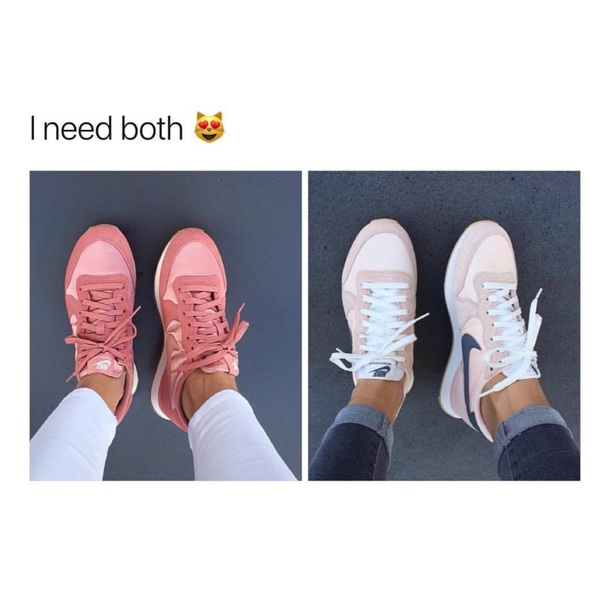 shoes nike rose gold nike sneakers pink nike'shoes white sneakers
