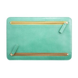 green bag bag with zips blue bag clutch