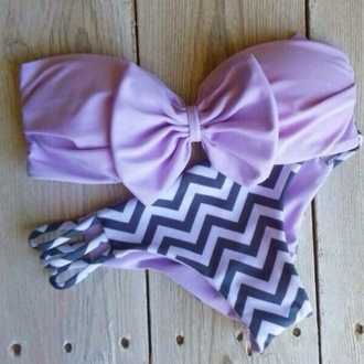 swimwear purple chevron bow purple bow bikini purple bikini brazilian bikini bow pink chevron lavender bandeau purple swimwear bikini summer beach stripes violet purple and dark blue bow bandeau cheveron grey lilac bow bikini cute summertime