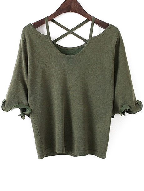 top green criss cross fashion style trendy cool casual summer zaful