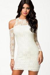 dress,mini,white mini,cold shoulder dress,angelic,sexy dress,wots-hot-right-now,mini dress,white,white lace dress,party dress,sexy party dresses,cocktail dress