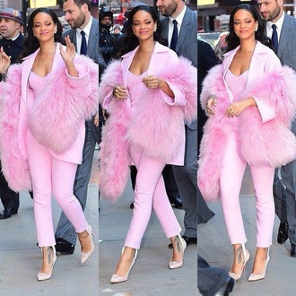 coat rihanna pants underwear tank top top shoes