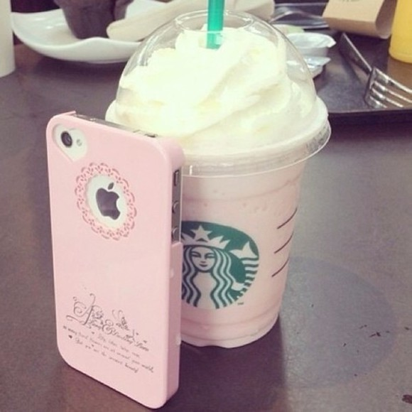 pink floral cute girly phone case starbucks coffee heart iphone 5 case iphone case cut-out jewels pastel pink floral classy elegant phone case iphone 4 case iphone 4 case case