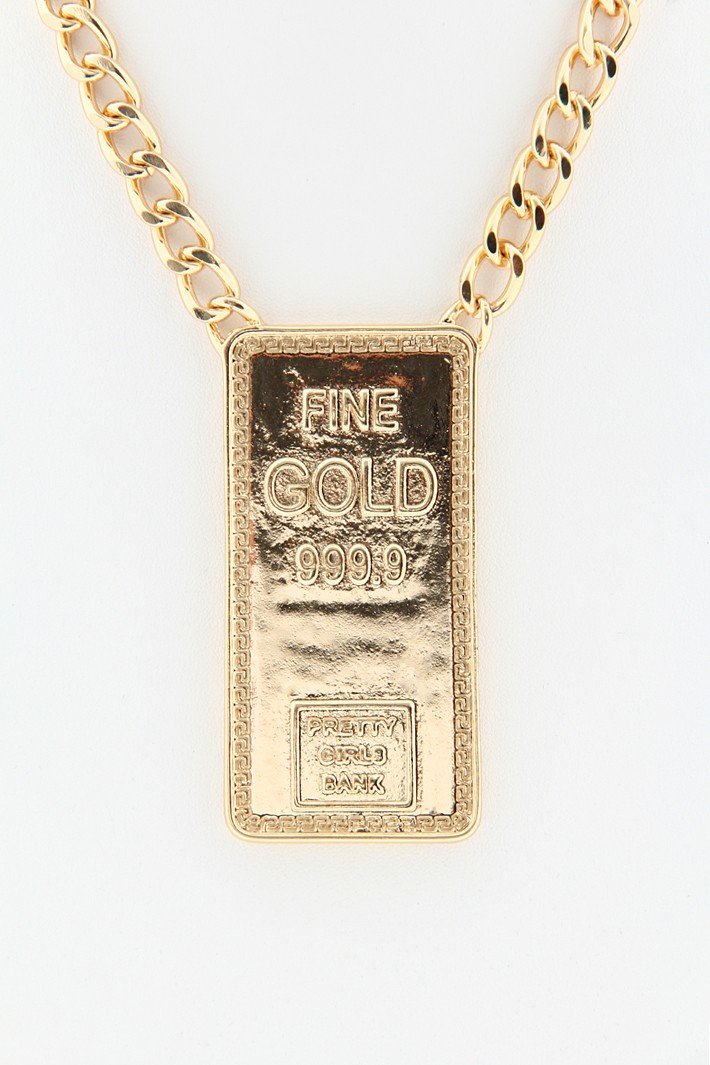 Fine Gold 999.9 Chain Necklace - Gold
