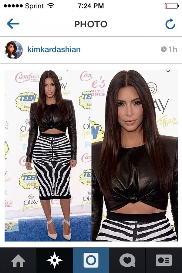 top kim kardashian skirt shoes