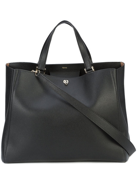 Valextra - Brera tote - women - Leather/Suede - One Size, Black, Leather/Suede