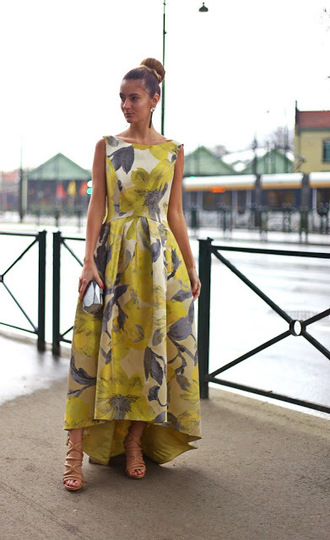 from brussels with love blogger dress shoes bag maxi dress floral maxi dress clutch sandals