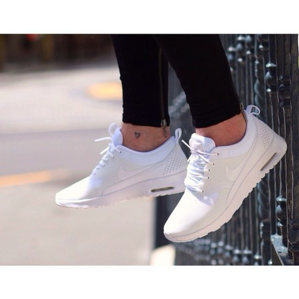 shoes white sneakers nike air