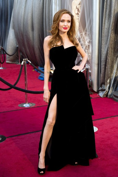 angelina jolie dress little black dress celebrities black shoes