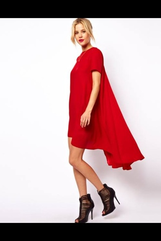 dress red pants red shoes lace high heels black shoes big bottom pant legs dress look