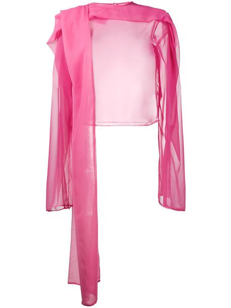 Y / Project top long sheer women draped purple pink