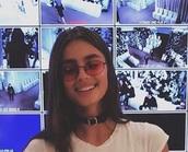 sunglasses,Taylor hill,john lennon,sunnies,jewels,necklace,choker necklace,black choker,buckles,belt choker,buckle choker,jewelry,model,model off-duty