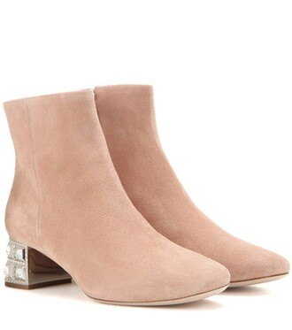 suede ankle boots embellished boots ankle boots suede shoes