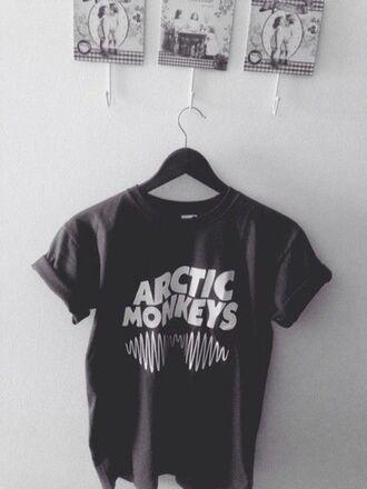 t-shirt arctic monkeys band am grunge tumblr black t-shirt pale alex turner