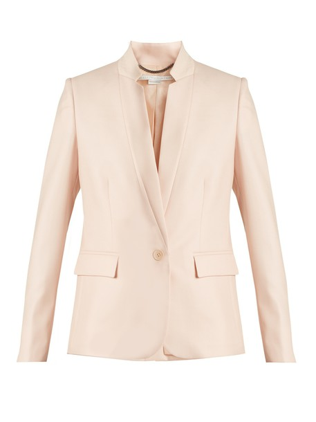 Stella McCartney jacket wool jacket fleur wool light pink light pink