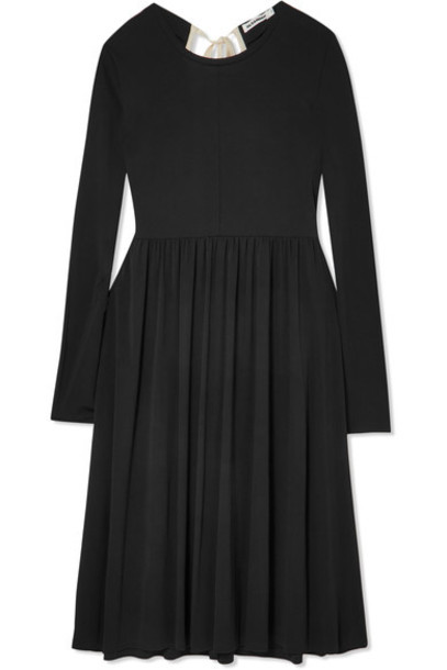 dress midi dress oversized midi black