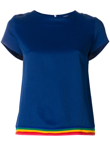 Mira Mikati - Cady top - women - Polyester/Spandex/Elastane/Acetate/Viscose - 38, Blue, Polyester/Spandex/Elastane/Acetate/Viscose