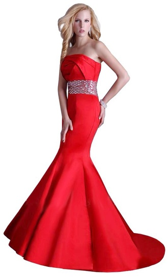 dress long dress long prom dress prom dress long mermaid dress red mermaid dress red sexy prom fashion evening dress red dress red prom dress long red dress mermaid prom dress rhinestones belt style