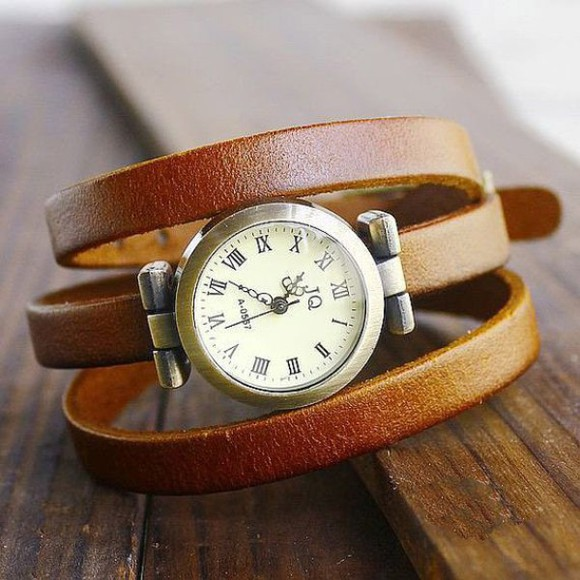 jewels watch leather watches vintage watch wrap watch