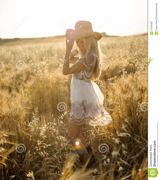 dress, brown and white dress, cowgirl