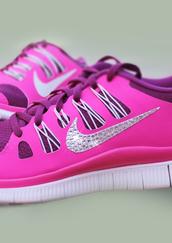 shoes,nike free run,nike sneakers,raspberry color,Nike Free Runs Tropical Twist Womens,high top nikes,swarvoski nike free run 0.5,swarvoski nike,pink nike,nike pink,nike running shoes,nikes sportswear,nike,raspberry red nikes