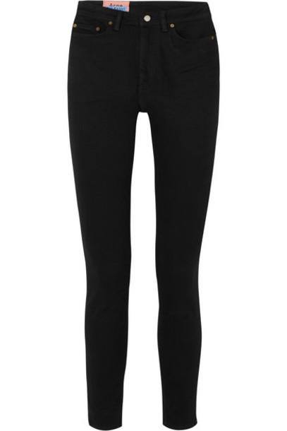 Acne Studios - Peg High-rise Skinny Jeans - Black