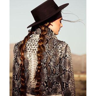 jacket nastygal python studded black grey white vegan leather silver stud cropped 36683